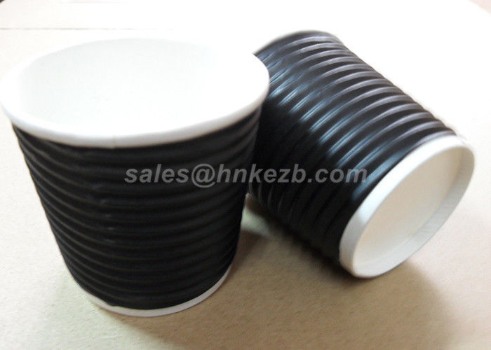 Insulated Take Out Disposable Paper Cup Double / Single Wall Custom Printing