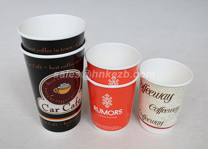 Custom Printed Disposable Double Wall Paper Cups 12 Oz Coffee Takeaway Cups