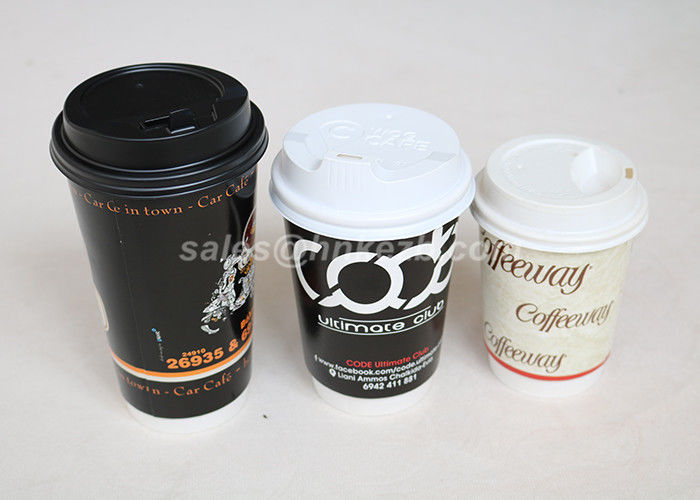 Insulated Double Wall Paper Cups Disposable Drinking Cups For Wedding / Party / Meeting