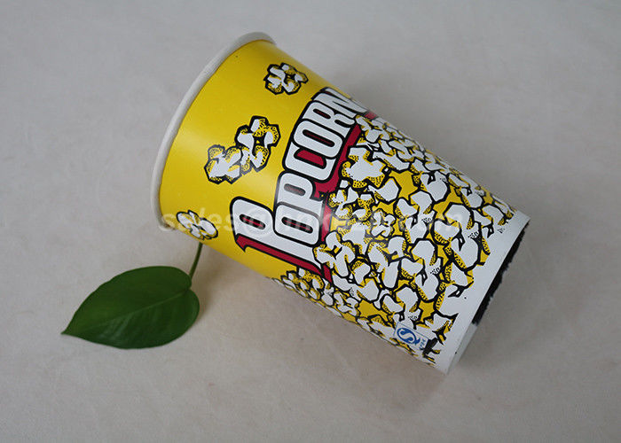 170 oz Yellow Color Custom Printed Paper Cups for Popcorn Large Capcity